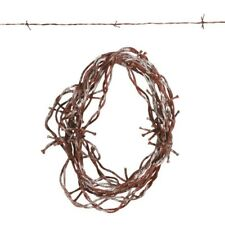 FAKE Rusted Rusty 3.8M BARBED WIRE Halloween Horror Prop Shop Decoration 2 TONE