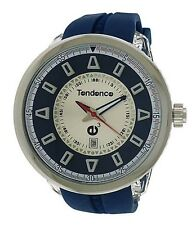 TENDENCE 02043002N ROUND GULLIVER 3H QUARTZ MENS WATCH STAINLESS STEEL BLUE