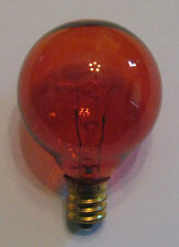 1 Transparent Amber Marquee/Sign/Amusement Park/Party/Patio Light Bulb E12 Base