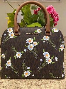Michael Kors Cindy Dome Floral Satchel NWT AUTHENTIC READ DESCRIPTION
