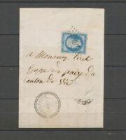 1865 Lettre N°22 GC 4587 CAD T22 Haboudange MEURTHE(52) superbe X4629