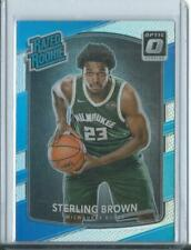 2017-18 Donruss Optic Sterling Brown Holo Prizm Rated Rookie Bucks RC