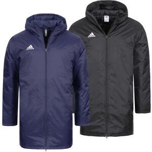 adidas Core Stadium Jacket Freizeit Sport Teamsport Winterjacke schwarz blau neu
