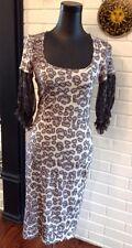 Robert Cavalli Just Cavalli Stunning Animal Print Silk Accent Dress Size US 8