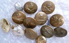 Button- Royal Air Corps Buttons  13 pcs, Brass, WM maker XXX