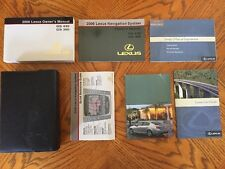 2006 Lexus GS430/GS300 With Navigation Owner's Manual Stock #260