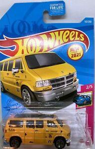 Hot Wheels G Case Moon Eyes Yellow Dodge Van HW Drift #50 NEW for 2021