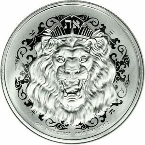 1 OZ. ~ PURE .9999 SILVER ~ ROARING LION COIN ~ PROOF-LIKE ~ $46.88 ~ BUY IT NOW