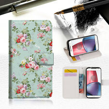 Royal Garden Wallet TPU Case Cover for Motorola Moto G4 Plus A023