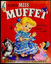 LITTLE MISS MUFFET & Other Rhymes ~ Vintage Children's McNally Tip Top Elf Book
