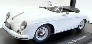 Norev 1/18 Scale Model Car 187460 - 1954 Porsche 356 Speedster - White