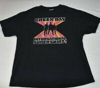 "Vintage 2001s ""Green Day International Super Shirt rare"