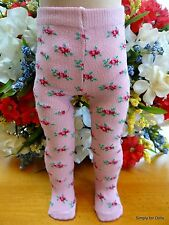 """**SALE** PINK Floral DOLL TIGHTS STOCKINGS fits 15"""" & 18"""" AMERICAN GIRL DOLL G/Z"""