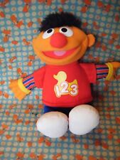 "TALKING ERNIE 1 2 3 LITTLE RUBBER DUCKIES SOFT TOY SESAME ST STREET 14"" APPROX"