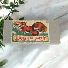 Vintage 1950's Skipper in The Forest Japan Ksk Wind Up Toy Squirrel w/ Box Good