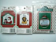 3 Christmas Ornament Counted cross stitch kits~ the New Berlin Co. Traditions