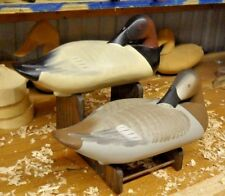 Canvasback Sleeper Decoys by Charlie Bryan Signed And Original Paint