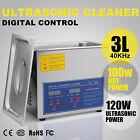 Digital 3L Ultrasonic Cleaner Heater Timer Industrial Grade Jewelry Free Basket