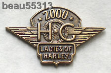 LADIES OF HARLEY DAVIDSON OWNERS GROUP HOG LOH 2000 VEST HAT JACKET PIN