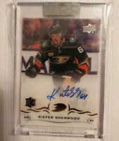 2018-19 UPPER DECK CLEAR CUT KIEFER SHERWOOD ROOKIE AUTO AUTOGRAPH