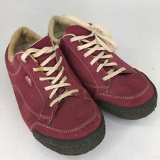 Simple Mens Athletic Shoes Burgundy Lace Up Low Top Round Toe Sneakers 10