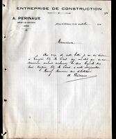 """AINAY-le-CHATEAU (03) Ets de CONSTRUCTION """"A. PERINAUX"""" en 1910"""