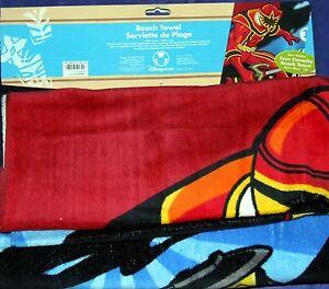 "Power Rangers Mystic Force Beach Towel Disney Store Exclusive 30"" X 60"" 2006"