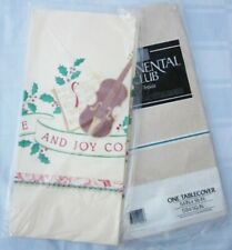 HALLMARK CHRISTMAS TABLE COVER PAPER TABLECLOTH MUSIC INSTRUMENTS Love Joy NEW