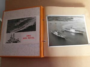 1970s HMS ARK ROYAL PHOTO ALBUM OFFICIAL RUBBER STAMPED PHOTOGRAPHS 1975/76