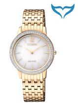 Citizen Elegant Damen Armbanduhr EX1483-84A Eco-Drive Edelstahl Saphir 5 bar NEU