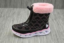 Skechers Heart Lights Happy Hearted (20286L) Boot - Little Girl's Size 3 - Black