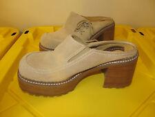 Rare, Vtg 90s Leather Chunky Platform Mules Somethin' Else Skechers sz 10