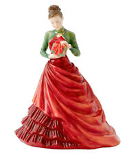 """Royal Doulton Christmas Gift Pretty Ladies Hand Signed 2012 Figurine 7"""" HN5547"""