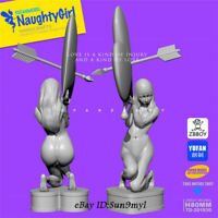 Naughty Love Girl Unpainted Resin Kits Model GK Figurine YuFan 80mm