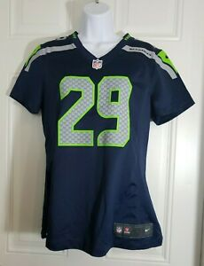Nike Seattle Seahawks Jersey NFL Earl Thomas #29 Blue Women's Size Medium M