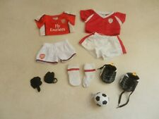 BABW Build A Bear Football Kit Sets x 2 Boots Shin Pads Socks Ball Chelsea