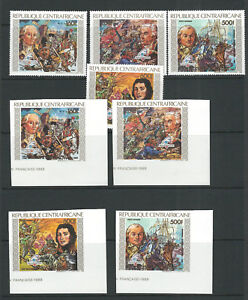 CENTRAL AFRICAN REPUBLIC 1989 BICENT of FRENCH REVOLUTION PERF/IMPERF MNH LOT2