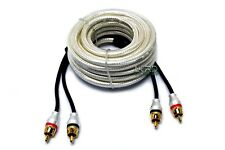 Lord of Bass Car Audio RCA Interconnect Cable 2 Channel 17 Ft OFC High Quality