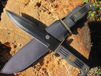 Schweres 39 cm. Messer Bowiemesser GÜRTELMESSER Machete AXT Beil Outdoor Jagd sc