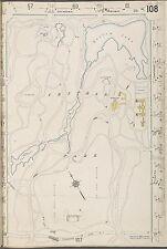 1912 SANBORN, CENTRAL PARK, MANHATTAN, NEW YORK, COPY PLAT ATLAS MAP 18X27