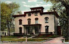 Rutland Vermont~Business College~House Next~Back Door Open~1908 Postcard
