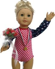 "Olympic Gymnastic for American Girl Dolls Fits 18"" Doll Clothes Accessories SET"