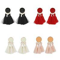 Women Tassel Earrings  Round Drop Earrings Gold Color Earrings Jewelry Gifts