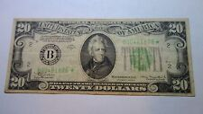 1934 $20 Star note 1934 A $20 Federal reserve bank of NEW YORK FED