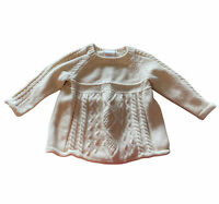 Hanna Andersson Baby Toddler Girl Sweater size 80 18-24 m Cream