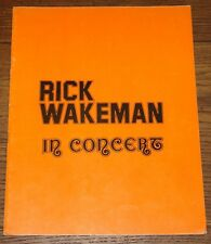 RICK WAKEMAN RARE UNOFFICIAL NO EARTHLY CONNECTION UK CONCERT PROGRAMME 1976