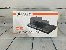 108w, 10 port phone organizer with docking station Charger
