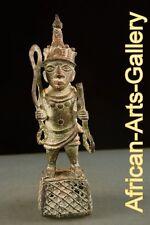 53456 Bronze Würdenträger Figur der Benin Nigeria Afrika