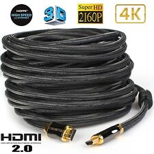 V2.1 HDMI 50FT Cable with Ferrite Cores Support 18Gbps & 4K120fps 10K100/120fps