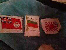 3 Vintage Cigarette Tobacco Silk National Flags (ca. 1912 - 1915.) Lot4